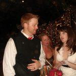 Bride and groom: Bride and groom talking