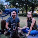 Summer Cinema Series 2019: Couple with their dog posing for a picture