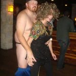 #TBTwJnD: Jason Is A Stripper: jason dancing with his pants around his knees with one of the bachelorette