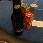 Jason's Vegas Vacation: a bud light next to another pile of chips