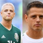 Javier Hernández: Mexico Forward: Javier Hernández: Mexico Forward side by side comparison and blonde and brunette hair
