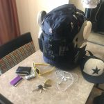 Jason's Vegas Vacation: Jason's backpack and everything he took with him to Vegas