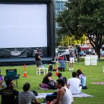 Summer Cinema Series 2019: Republic Square Park In Downtown Austin During Summer Cinema
