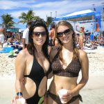 #TBT Bud Light Party Cruise : Deb and former 'Sorority Intern' Cassandra at the Bahamas Bud Light Party Cruise from 2009.