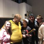 Nightmare on Affluence Hill: Bumblina, Jason, Deb, Bernie and Dallon dressed up for halloween
