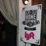 """101X Homegrown Live Presents Quiet Company at Mohawk: Sign reading """"101X Homegrown Live Supported By Lyft."""""""