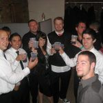 The gang toasting!: The gang toasting!