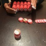 Jason's Vegas Vacation: Jason cashing in his chips at the casino cage
