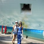#TBT Bud Light Party Cruise : Deb and former 'Sorority Intern' Cassandra at the Bahamas Bud Light Party Cruise from 2009 in front of a boat.