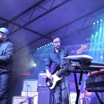 101X Homegrown Live Presents Quiet Company at Mohawk: Black Books bass player on stage