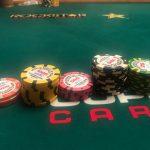 Jason's Vegas Vacation: Jason's chip stack at the World Series Of Poker