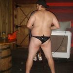 #TBTwJnD: Jason Is A Stripper: the behind view of jason wearing only a thong after stripping for a bachelorette party
