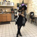 Alfie(& Katy)ween: Day 6 - Witch and Wizard : Katy Dressed as a Witch and Alfie Dressed as A wizard