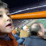 Nephew at first football game: Nephew at a game