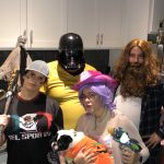 Nightmare on Affluence Hill: Deb, Jason, Katy and Nick dressed up for halloween