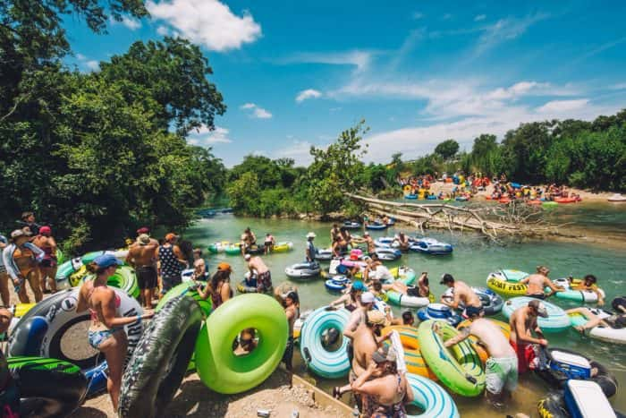 People floating the river at Float Fest 2017