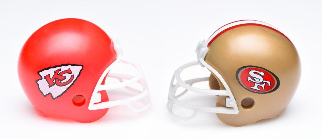 Super Bowl Team Helmets