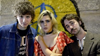 Nick Kivlen, Julia Cumming and Jacob Faber of Sunflower Bean