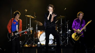 Mick Jagger and the Rolling Stones performing at Mile High Stadium August 10, 2019 in Denver, Colorado.
