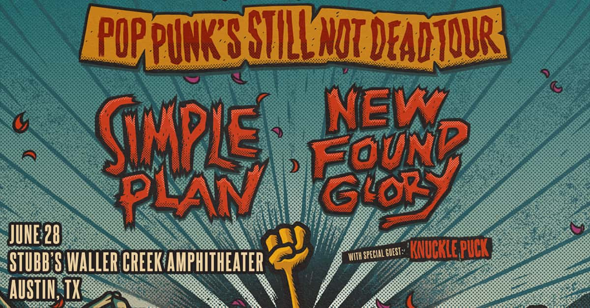 Pop Punk's still not dead tour - Simple Plan and New Found Glory