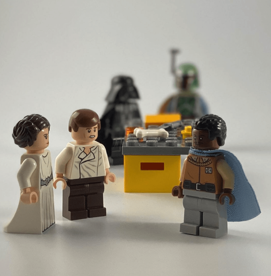LEGO betrayal scene from Cloud City