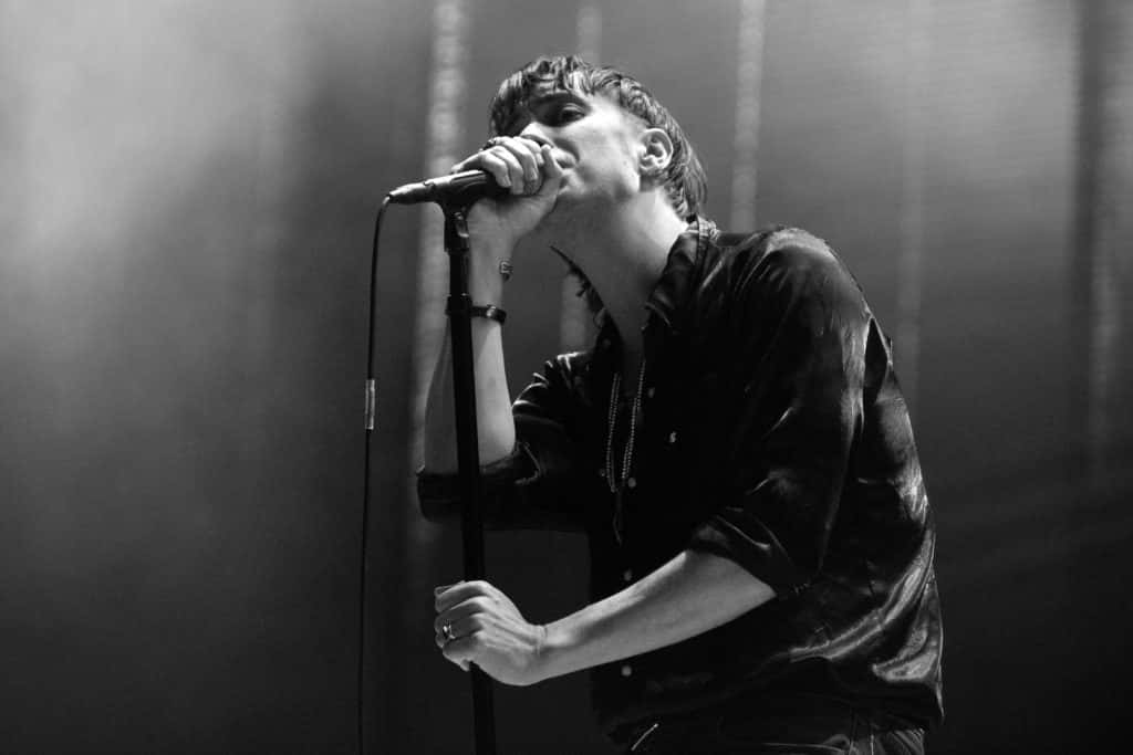 Julian Casablancas of The Strokes performs during the All Points East Festival at Victoria Park on May 25, 2019 in London, England.