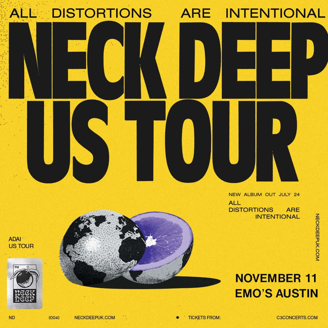 Neck Deep - All Distortions Are Intentional U.S. Tour