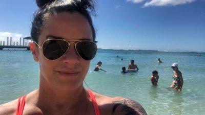 deb at the beach