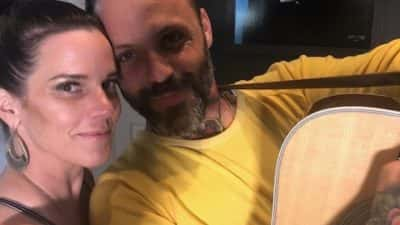 deb next to justin furstenfeld from blue october