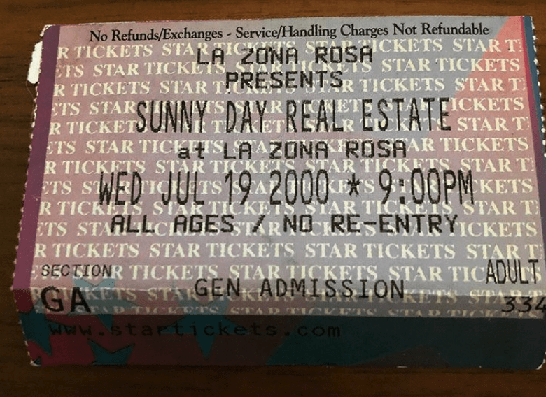 Sunny Day Real Estate ticket
