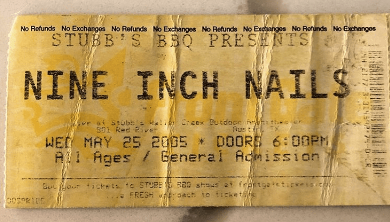 Nine Inch Nails Ticket