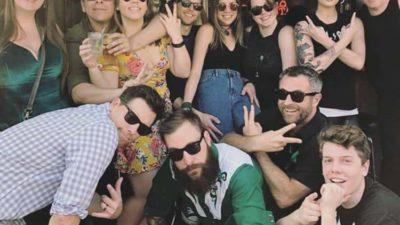 cj morgan and friends at the bar at shady grove restaurant