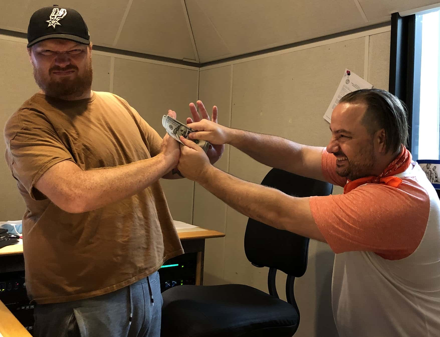 Nick trying to force jason to take his money on a weight gain bet