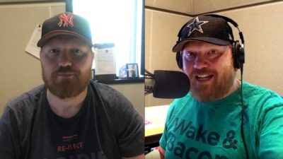a side by side comparison of how jason looks in a picture nick's phone took and one the in studio cameras took