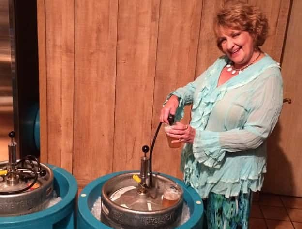 CJ Morgan's mom pumping a keg