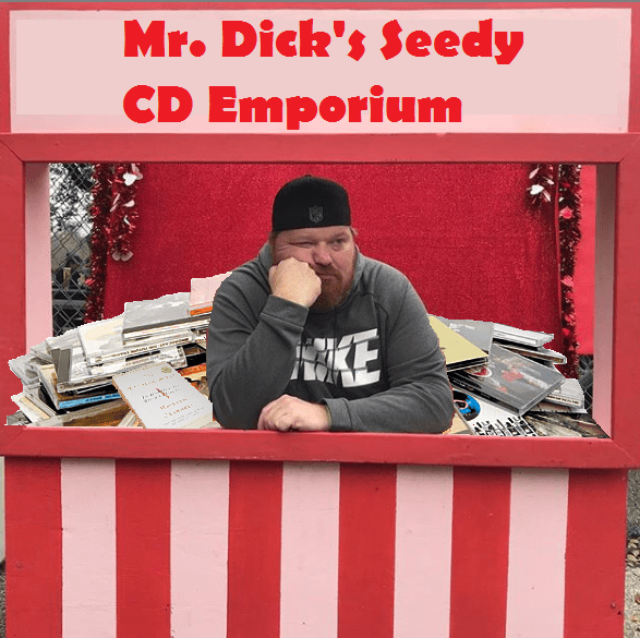 photoshopped picture of jason in a road side booth selling old cds