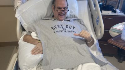 producer katy's dad, billy, in the hospital after recovering from Covid