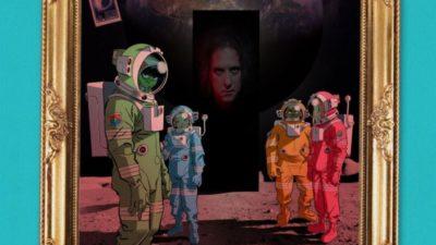 Gorillaz and Robert Smith promo art