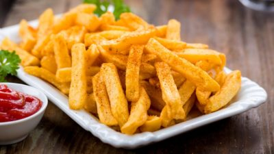 stock photo of french fries on a plate