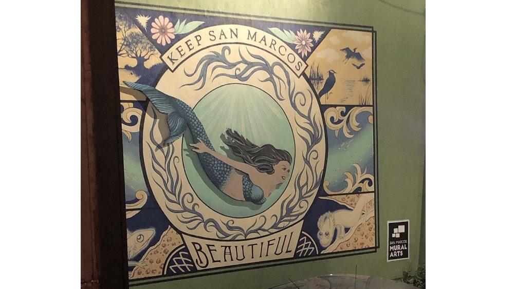 mural saying keep San Marcos beautiful