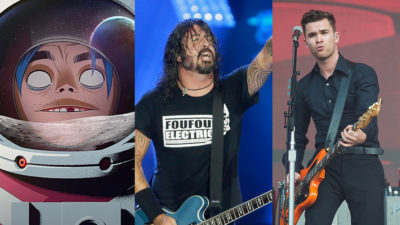 gorillaz, foo fighters, royal blood