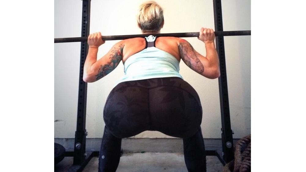 Deb doing a very deep squat