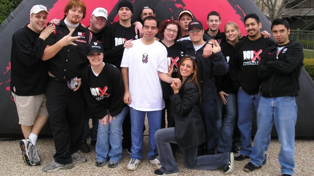 group picture of the 101x staff back when Jason was a lowly promotions grunt