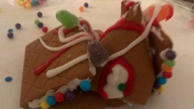 Jason's gingerbread house