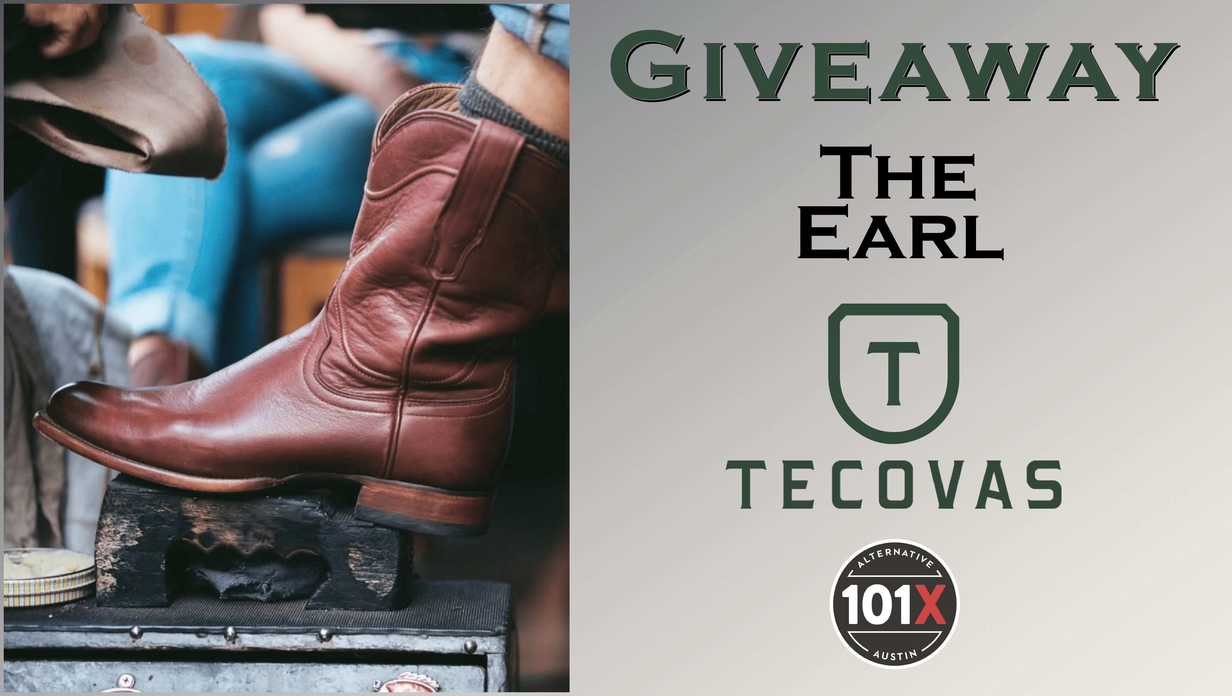 Giveaway The Earl boots Tecovas 101x Contest