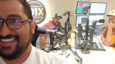 jason's roommate gil taking a studio selfie