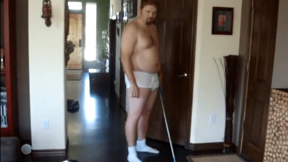 an old picture of jason in tighty whitey underwear