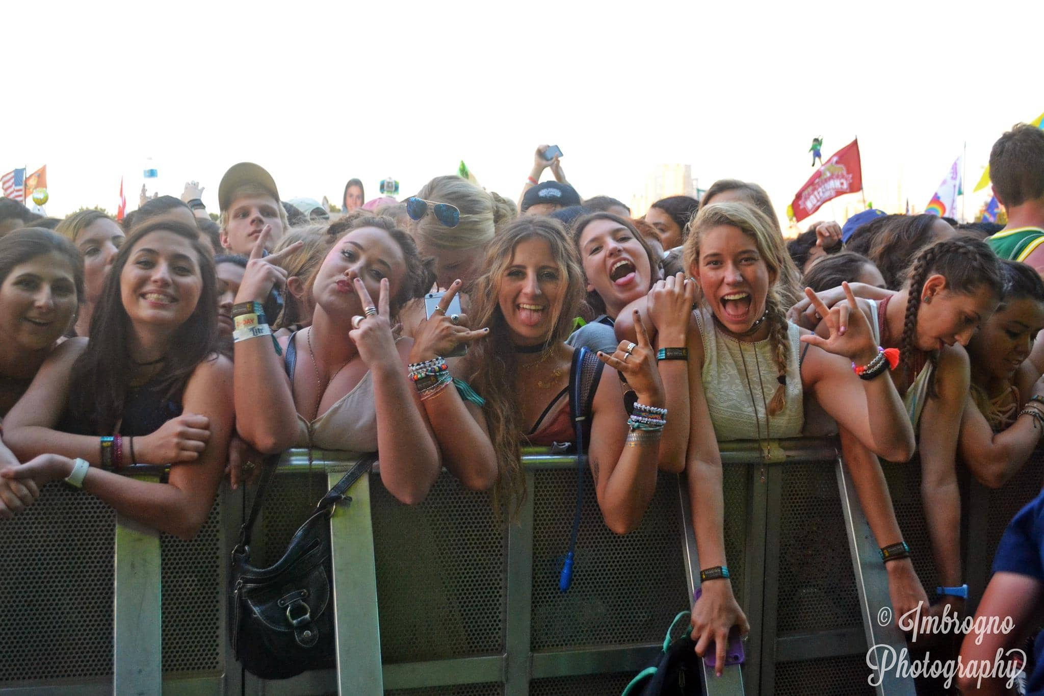 women front row at a concert