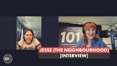 The Neighbourhood's Jesse with Emily from 101X