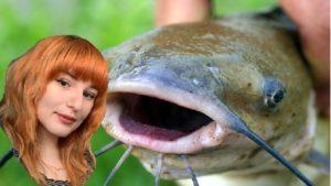 Emily photoshopped next to a catfish